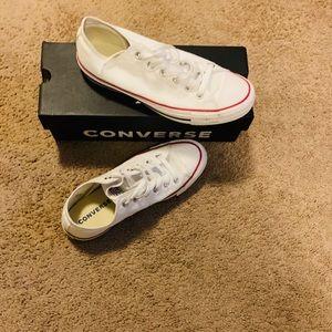 Size 10 Unisex White Converse